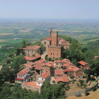 Nazzano Château - vue aérienne